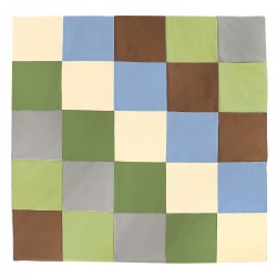 Infant and Toddler Indoor Activity Patchwork Mat in Natural Colors