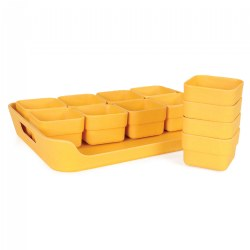 Eco Planter Pots and Tray Set