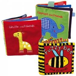 Animals Cloth Books - Set of 3