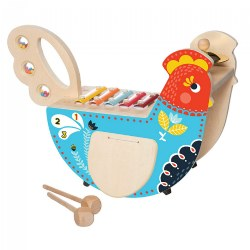Toddler Toy Musical Chicken Wooden Instrument
