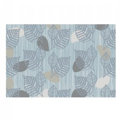 Sense of Place Blue Leaf Carpet - 6' X 9'