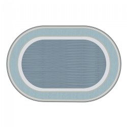 Sense of Place Highland Stripe Blue Oval Carpet - 6' X 9'