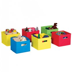 Colorful Fabric Bins - Set of 6