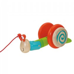 Dilly Dally Wooden Snail Pull