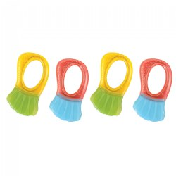 Color-rific Teething Rattles - Set of 4