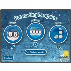 Pre-Coding with Penguins Software for Large Screens and Tablets
