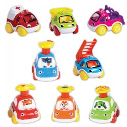 Mighty Mini Vehicles - Set of 8