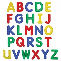 Jumbo See-Through Uppercase Letters - Set of 26
