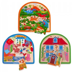 Arched Layered Puzzle Set - Set of 3