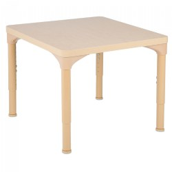"30"" x 30"" Laminate Adjustable Square Table - Seats 4"