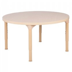 "36"" Laminate Adjustable Round Table - Seats 4"