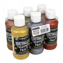 Metallic Tempera Paint 4 oz. - Set of 6