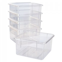 5 Clear Bins for 10-Cubby Wall Locker