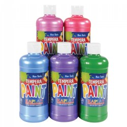 Sparkle Tempera 16 oz. Paints - Set of 5