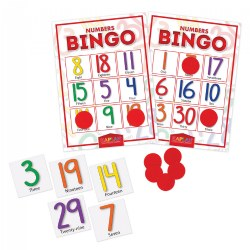 Numbers Bingo Cards Math Recognition & Learning Game For Kids