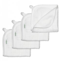 Organic Wash Cloths - 4 Pack