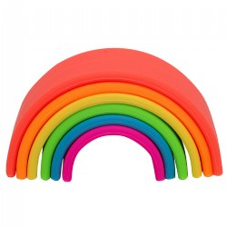 Infant Silicone Soft Colorful Neon Arches - 6 Pieces