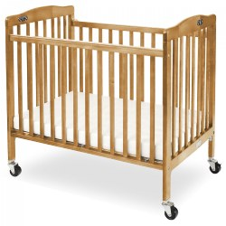 Foldable Compact Crib - Natural