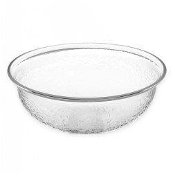 "8"" Clear Acrylic Round Bowl"