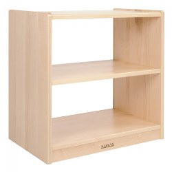 "24"" Two-Shelf Maple Toddler Storage with Acrylic Back"
