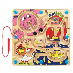 Fun Farm™ Magnetic Maze - Wooden Toys for Preschool Kindergarten