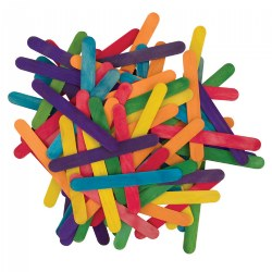 Colored Jumbo Wood Craft Sticks