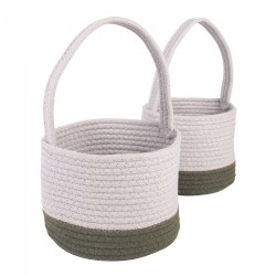 Woven Block Baskets - Set of 2
