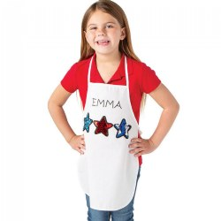 DIY Canvas Child's Aprons - Set of 12