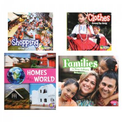Around the World Book Set - Papaerback - Set of 4