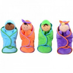 Soft Swaddle Baby Dolls - Set of 4