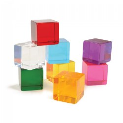 Sensory Perception Cubes in Translucent Cubes - Set of 8