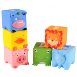 Soft Critters Pop Blocks - Set of 6