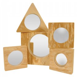 Toddler Foam Frame Mirrors - Set of 5