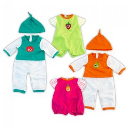 "Doll Clothes - Set of 4 - Warm & Cold Pajamas for 15 3/4"" Dolls"