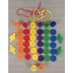 Button and Spools Lacing Set