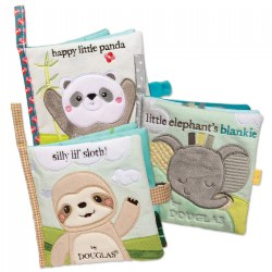 Sweet Animal Interactive Crinkle Cloth Books - Set of 3 Crinkle Books with Mirrors