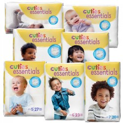Cuties Diapers - Available in Sizes 1 through 7