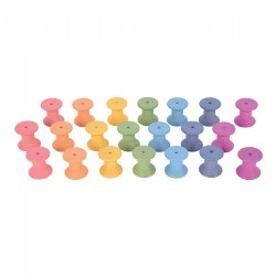 Rainbow Wood Loose Spools - 21 Pieces