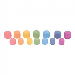Rainbow Wood Loose Cubes - 14 Pieces