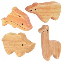Soft Sounds 4 Wooden Animal Shakers