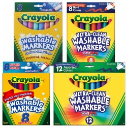 Crayola® Washable Markers - 8 Count & 12 Count Markers - Sets of 10
