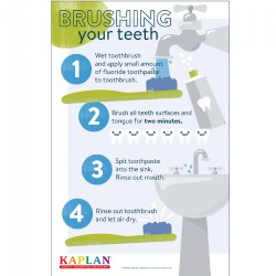 Teeth Brushing Poster - Set of 12