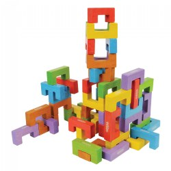 Wood Patterning Builders - 48 pieces