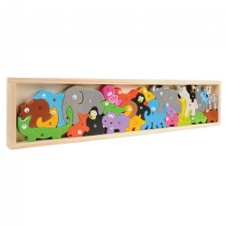 Animal Parade Letter Puzzle - Eco-Friendly Wood