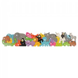Jumbo Animal Parade Puzzle - Eco-Friendly Wood