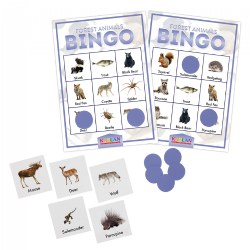 Kaplan Forest Animals Bingo Learning Game