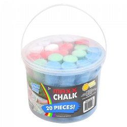 Maxx Chalk Play Bucket - 20 Jumbo Pieces