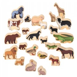 Wood Animal Families - 24 Pieces