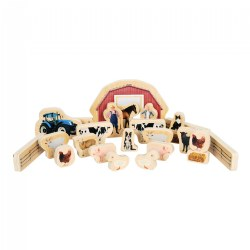Wood Farm Animal Blocks - 25 Pieces