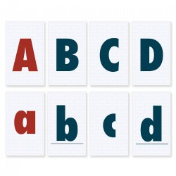 Alphabet Flashcards Set - Uppercase & Lowercase